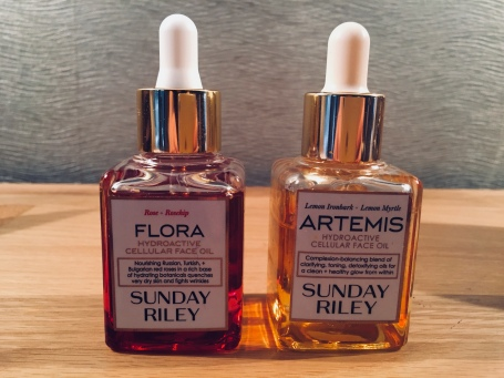 My Favourite Sunday Riley Facial Oils Out of Box Pic