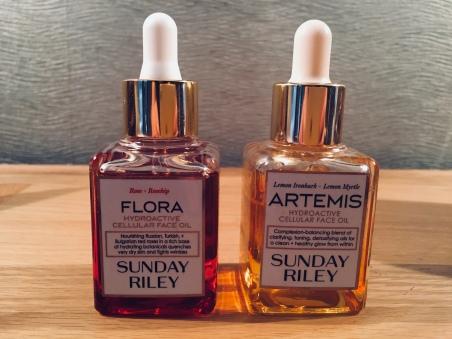 Ten Brilliant Facial Oils Sunday Riley Artemis and Flora Hydroactive Cellular Face Oil
